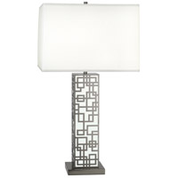 Lloyd 30 inch 150 watt Blackened Nickel with White Table Lamp Portable Light in White Lacquered