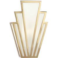 Robert Abbey 228 Empire 1 Light 7 inch Modern Brass Wall Sconce Wall Light