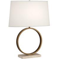 Robert Abbey 2295 Logan 25 inch 150 watt Aged Brass Table Lamp Portable Light in Fondine