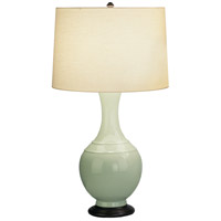 Robert Abbey 231 Edgar 28 inch 150 watt Celadon with Deep Patina Bronze Table Lamp Portable Light
