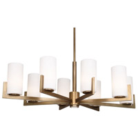 Robert Abbey Wesley 9 Light Chandelier in Rhbn 2355