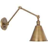 Robert Abbey 2418 Alloy 1 Light 8 inch Warm Brass Wall Sconce Wall Light