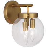 Robert Abbey 2432 Zoltar 3 Light 8 inch Antique Brass Wall Sconce Wall Light