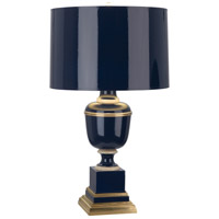 Mary McDonald Annika 30 inch 150 watt Cobalt with Natural Brass and Ivory Crackle Table Lamp Portable Light in Cobalt Lacquered Paint, Cobalt Painted Parchment