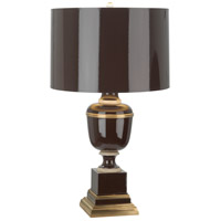 Robert Abbey 2502 Annika 30 inch 150 watt Chocolate with Ivory Crackle and Natural Brass Table Lamp Portable Light in Chocolate With Matte Gold