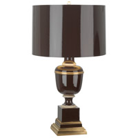 Robert Abbey 2506 Annika 24 inch 60 watt Chocolate with Natural Brass and Ivory Crackle Accent Lamp Portable Light in Chocolate With Matte Gold