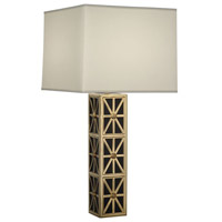 Robert Abbey Directoire 1 Light Table Lamp in Rabn Black Glass 2550