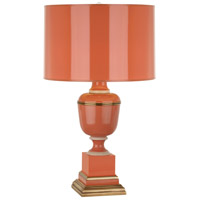 Robert Abbey 2600 Annika 30 inch 150 watt Tangerine with Ivory Crackle and Natural Brass Table Lamp Portable Light in Tangerine With Matte Gold