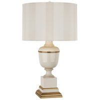 Robert Abbey 2601 Annika 30 inch 150 watt Ivory Lacquer with Ivory Crackle and Natural Brass Table Lamp Portable Light in Ivory With Matte Gold