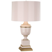 Robert Abbey 2602 Annika 30 inch 150 watt Blush Lacquer with Ivory Crackle and Natural Brass Table Lamp Portable Light in Blush With Matte Gold
