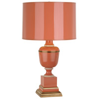 Annika 24 inch 60 watt Tangerine with Natural Brass and Ivory Crackle Accent Lamp Portable Light in Tangerine With Matte Gold
