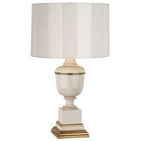 Robert Abbey 2604 Annika 24 inch 60 watt Ivory Lacquer with Ivory Crackle and Natural Brass Accent Lamp Portable Light in Ivory With Matte Gold