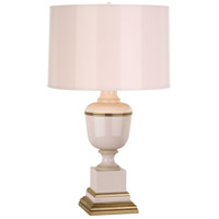 Robert Abbey 2605 Annika 24 inch 60 watt Blush with Natural Brass and Ivory Crackle Accent Lamp Portable Light in Blush With Matte Gold