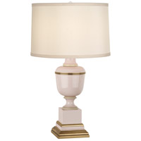 Robert Abbey 2605X Annika 24 inch 60 watt Blush Lacquer with Ivory Crackle and Natural Brass Accent Lamp Portable Light in Cloud Cream Silk