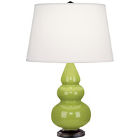 Small Triple Gourd 24 inch 150 watt Apple with Deep Patina Bronze Table Lamp Portable Light