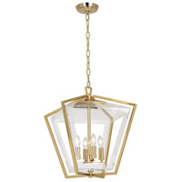 Casper 4 Light 16 inch Polished Brass Pendant Ceiling Light