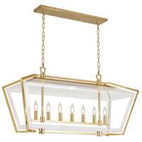 Casper 7 Light 40 inch Polished Brass Chandelier Ceiling Light