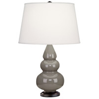 Small Triple Gourd 24 inch 150 watt Smoky Taupe with Deep Patina Bronze Table Lamp Portable Light in Smokey Taupe
