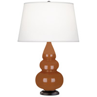 Robert Abbey 275X Small Triple Gourd 24 inch 150 watt Cinnamon Accent Lamp Portable Light in Deep Patina Bronze