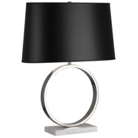 Logan 25 inch 150 watt Polished Nickel / Carrera Marble Table Lamp Portable Light in Black Painted Opaque Parchment