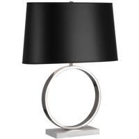 Robert Abbey 2791B Logan 25 inch 150 watt Polished Nickel Table Lamp Portable Light in Black