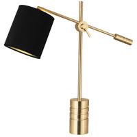Robert Abbey 291B Campbell 27 inch 100 watt Modern Brass Table Lamp Portable Light