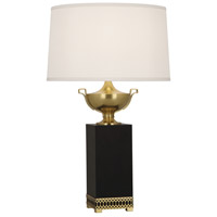 Williamsburg Tucker 32 inch 150 watt Antique Brass Table Lamp Portable Light in Ivory Silk