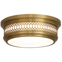 Robert Abbey 306 Williamsburg Tucker 2 Light 11 inch Antique Brass Flush Mount Ceiling Light