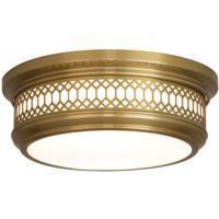 Robert Abbey 306 Williamsburg Tucker 2 Light 12 inch Antique Brass Flushmount Ceiling Light