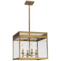 Williamsburg Tucker 4 Light 17 inch Antique Brass Pendant Ceiling Light