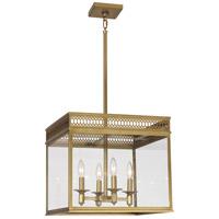 Robert Abbey 309 Williamsburg Tucker 4 Light 17 inch Antique Brass Pendant Ceiling Light