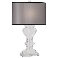 Robert Abbey 310B Williamsburg Dunmore 29 inch 100 watt Clear Lead Crystal with Polished Nickel Table Lamp Portable Light in Black Organza