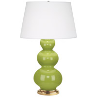Robert Abbey 313X Triple Gourd 33 inch 150 watt Apple Table Lamp Portable Light in Antique Brass