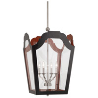Robert Abbey 316 Williamsburg Tayloe 4 Light 20 inch Polished Nickel Pendant Ceiling Light in Painted Charcoal/Dragons Blood