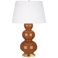 Robert Abbey 325X Triple Gourd 33 inch 150 watt Cinnamon Table Lamp Portable Light in Antique Brass