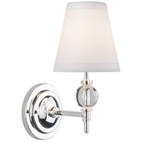 Muse 1 Light 5 inch Lead Crystal with Silver Plate Wall Sconce Wall Light