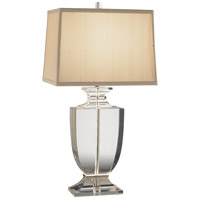 Robert Abbey 3324 Artemis 25 inch 150 watt Clear Lead Crystal with Silver Plate Table Lamp Portable Light in Cafe Dupioni