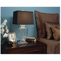 Robert Abbey 3324 Artemis 25 inch 150 watt Silver Plate Table Lamp Portable Light in Cafe Dupioni 3324Bbedroom.jpg thumb