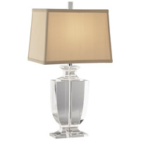 Robert Abbey 3329 Artemis 21 inch 60 watt Clear Crystal with Silver Plate Accent Lamp Portable Light in Cafe Dupioni