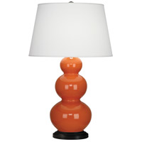 Robert Abbey 332X Triple Gourd 33 inch 150 watt Pumpkin Table Lamp Portable Light in Deep Patina Bronze