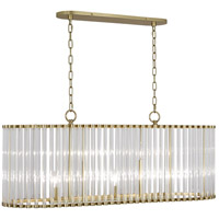 Cole 5 Light 13 inch Modern Brass Chandelier Ceiling Light