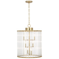 Cole 6 Light 18 inch Modern Brass Chandelier Ceiling Light