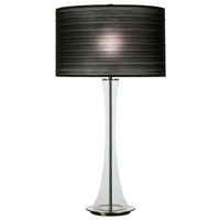 Robert Abbey Kate 1 Light Table Lamp in Clear Glass 3350B