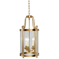Robert Abbey 3360 Blake 3 Light 11 inch Antique Brass Pendant Ceiling Light thumb
