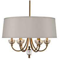 Gossamer 6 Light 23 inch Weathered Brass Chandelier Ceiling Light