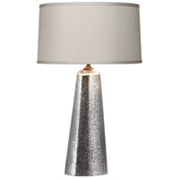 Robert Abbey 3369 Gossamer 30 inch 150 watt Distressed Mercury Glass with Weathered Brass Table Lamp Portable Light