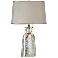 Robert Abbey 3370 Gossamer 25 inch 60 watt Distressed Mercury Glass with Weathered Brass Accent Lamp Portable Light