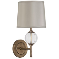 Latitude 1 Light 3 inch Aged Brass with Clear Glass Wall Sconce Wall Light