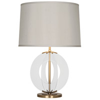 Robert Abbey 3377 Latitude 30 inch 150 watt Aged Brass Table Lamp Portable Light