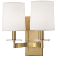 Alice 2 Light 14 inch Antique Brass with Lucite Wall Sconce Wall Light